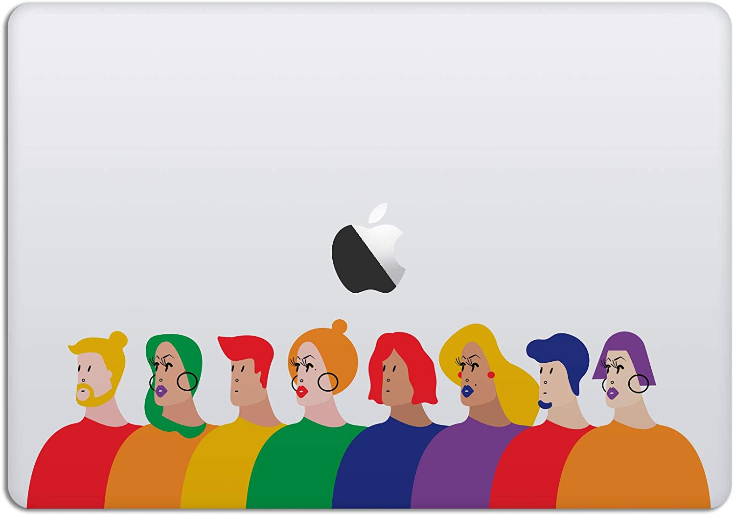 Laptop Stickers MacBook Decal - Removable Waterproof Vinyl -LGBTQ Pride Parade - Love is Love Decal Skin for Apple MacBook Air Pro 13 15 inch Mac Retina - Decorative Sticker by Artsybb