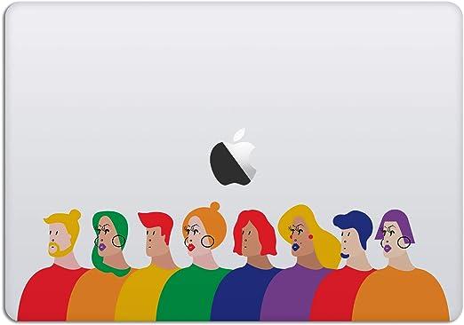 13//15 Apple Flag of Ukraine Vinyl Sticker for Macbook or Laptop