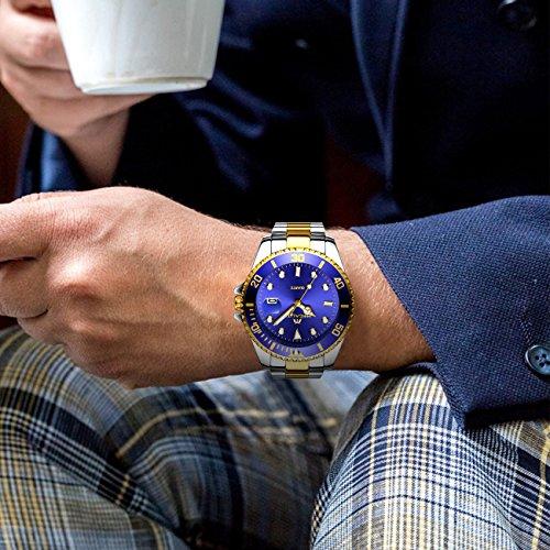 Nm8w0n Design Wasserdicht Uhren Datum Männer Luxus Herren Edelstahl 30m AjRq34Lc5