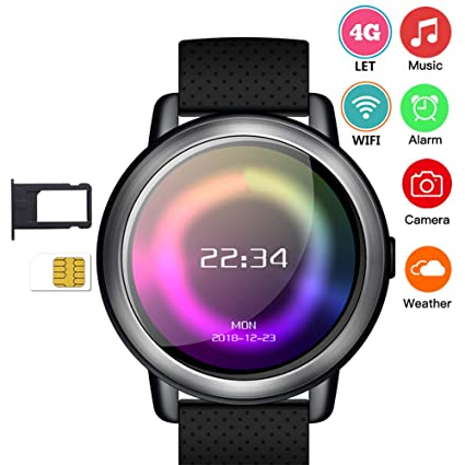 Amazon.com: Konnison-09 4G Smart Watch Phone - Android 7.1.1 ...