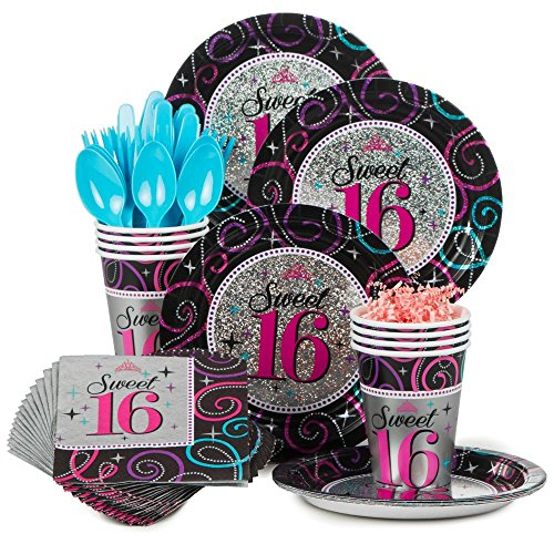 Costume Supercenter BBKIT871 Sweet 16 Birthday Party Standard Tableware Kit ()