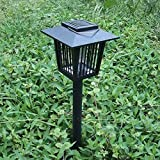 SuBoZhuLiuJ Enhanced Outdoor Flying Insect Killer,Hang or Stake in the Ground,Cordless Garden Lamp,Portable LED Machine,Best Stinger for Mosquitoes/Moths/Flies