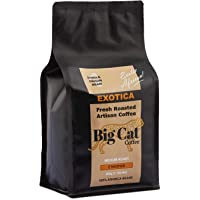Boost Foodz - Big Cat Coffee - Exotica - Artisan Fresh Roasted - Whole Beans - Gourmet Ethiopian - Medium Roast - African Style - 100% Arabica Coffee - 500g Bag - Australian Made