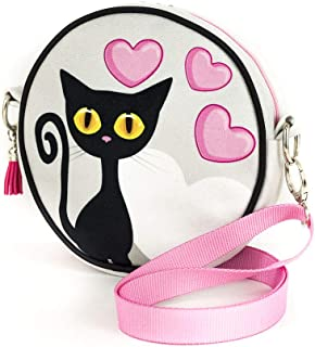 Shellbag Gatto Black Cat Collection borsa rotonda con un gatto/ piccola borsa con gatto/borsa delle ragazze/premium quality made in Europe 2018