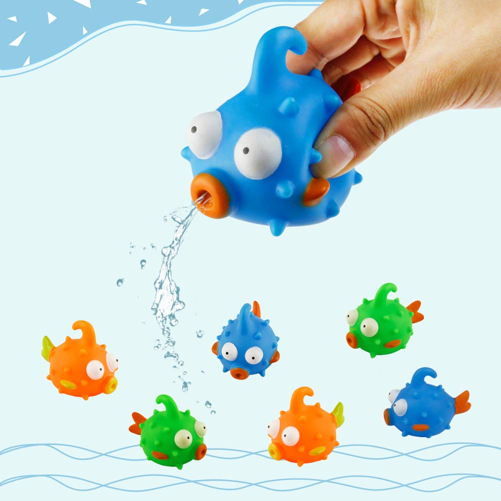 Nuheby Bath Toys Water Toys Floating Fish Toy Fish Gift for Children Water Play Fishing Game for Kids