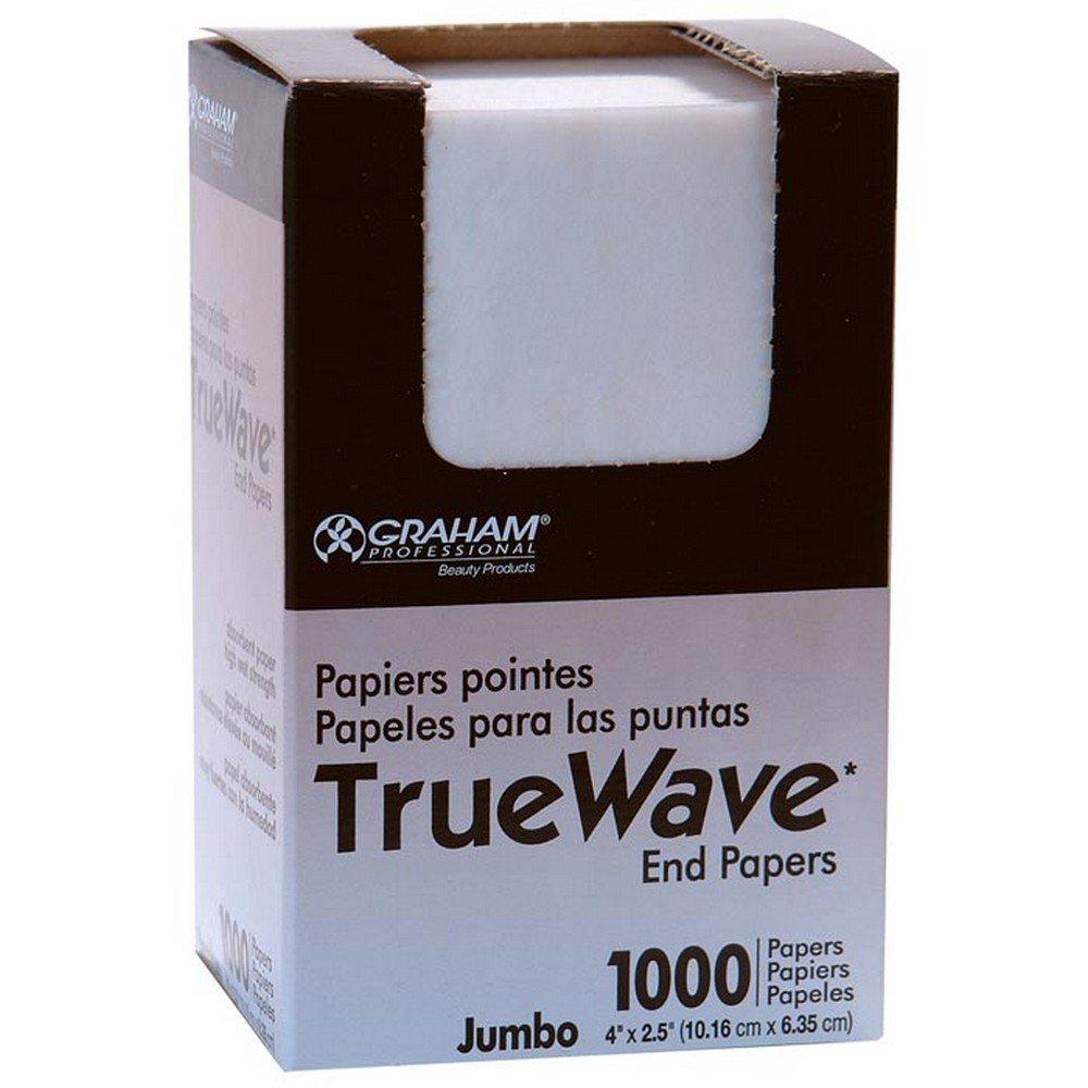 Graham Beauty Salon Truewave Jumbo End Paper 1000 Pack - HC-26067 Graham Professional Beauty