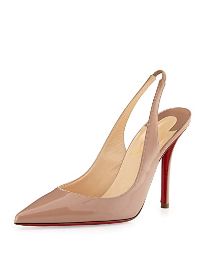 Christian Louboutin Apostrophy Sling 100 Patent Heels Pumps Shoes Pigalle  (36) 079672ae8