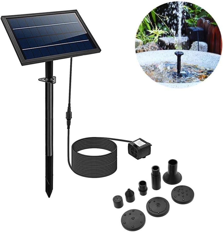 josietomy Kit de Bomba de Agua de Panel Solar 8 W Kit de Bomba de Agua de Panel Solar Bomba de Fuente de Agua Energía Solar para Baños de Pájaros Piscinas Estanques Jardines