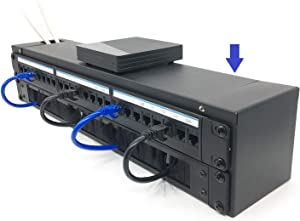 Jingchengmei 2U Foldable Hinged Wall Mount Patch Panel Bracket with Roof for 19 Inch Network Equipment (JCM-CVWRF2U)