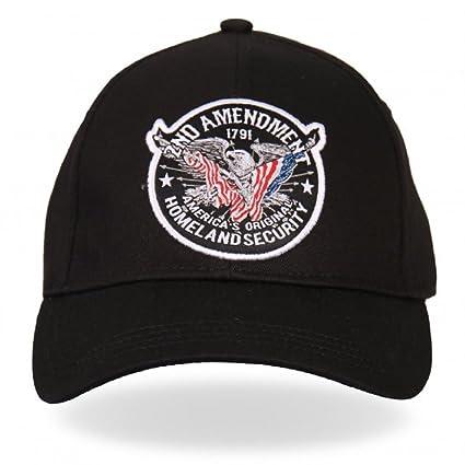 8521afa16 Amazon.com: Black White Ball Cap 2nd Amendment Eagle Flag USA ...