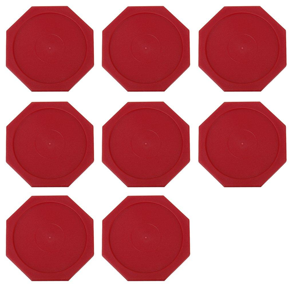 8pcs Air Hockey Arcade, Pub, Club Table Game Pucks 63mm (Red) Generic