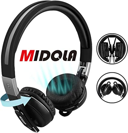 Amazon Com Midola Bluetooth Headphones Wireless Wired On Ear Foldable Portable Durable Adjustable Lightweight With Soft Earmuffs Tf Card Slot 3 5mm Aux Jack Built In Mic For Cellphone Tablet Home Audio Theater