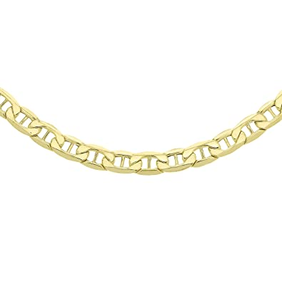 Carissima Gold Unisex 9 ct Yellow Gold Triple Curb Chain of Length 51 cm 8Ps1AjQp2