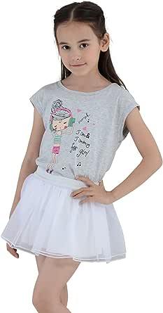 JIM&JIMMY Chicas Princesa Tutu Mini Falda De Tul Blanca Y Negra ...