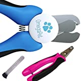 Best Dog Nail Clippers with Quick Sensor - Easy to Use Dog Nail Trimmer and Toenail Clippers - Sharp Cuts and Safety Guard so you can Clip with Confidence