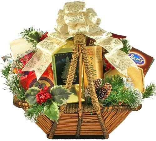 A Splendid Holiday Gourmet Food Christmas Gift Basket by Gifts to Impress