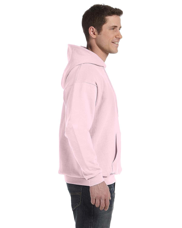 Hanes Mens EcoSmart Hooded Sweatshirt XL 1 Ash 1 Pale Pink