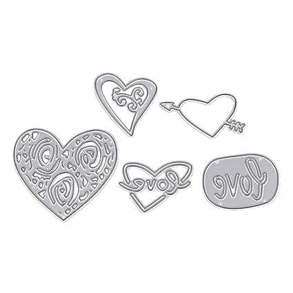 Logres amor corazón diseño de troqueles de corte de metal Tarjeta de papel álbum de recortes