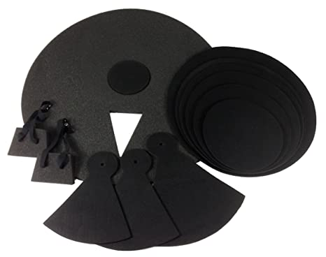 Amazon Com 12 Piece Drum Practice Pads Silent Black Foam Quiet 12