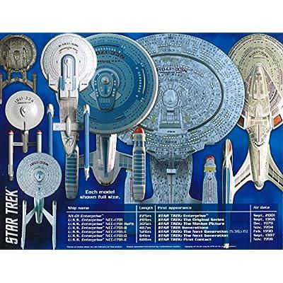 Round 2, LLC AMT 0954 1/2500 Star Trek USS Enterprise Box Set Snap: Toys & Games
