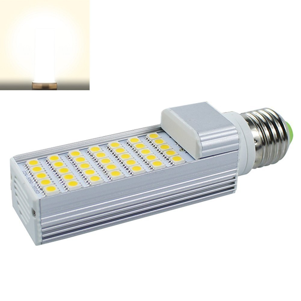 Masonanic LED 7W G24 Compact Fluorescent Lamp Aluminum Lamp E26 LED CFL/Compact Fluorescent Lamp,18W CFL Equivalent (4000K Natural Daylight White, 4 Pack)