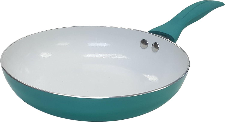 IKOセラミック 焦げつき防止 ビビッドフライパン 生物工学の熱くならない ソフトグリップハンドル 8 inch グリーン COMINHKG047658 B00GXF9I9U 8 inch|グリーン グリーン 8 inch