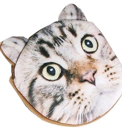 Suave Piel Marrón Gato monedero para niños Niños Bolsa de maquillaje tabby gatito vendedor UK: Amazon.es: Belleza