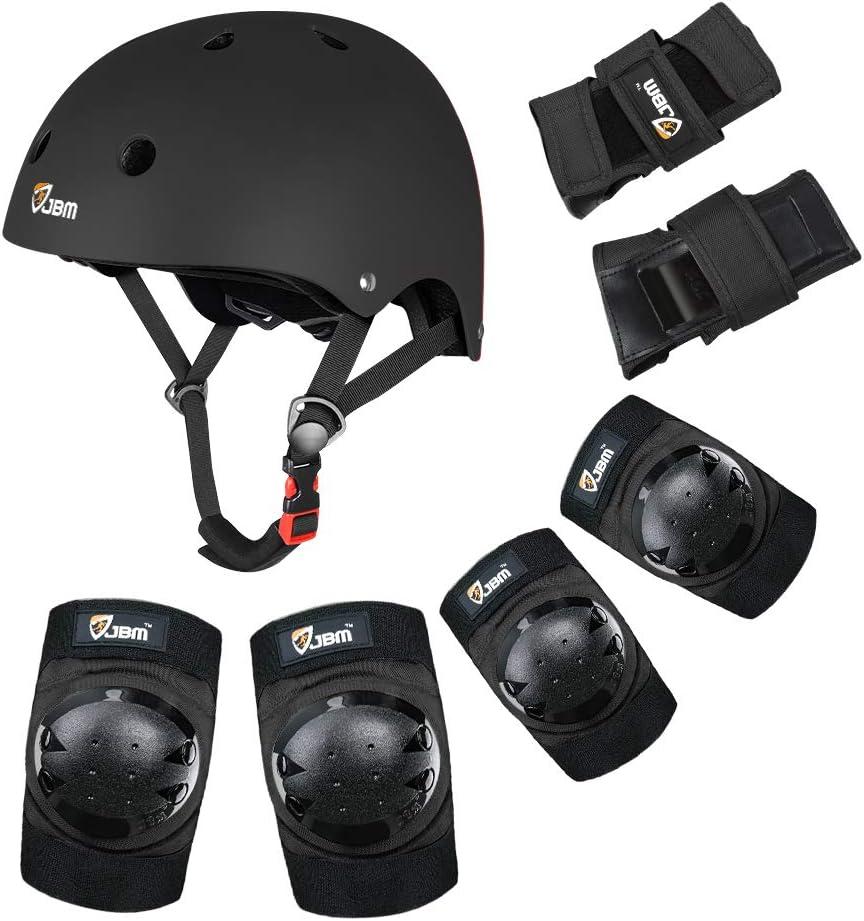 Patines en l/ínea monopatines; Kit Protector con /óptima regulaci/ón de Ajuste y un Agarre Firme para ni/ños y Adultos Bicicletas BMX Equipo Protector PS200 de Bluewheel para patinetas