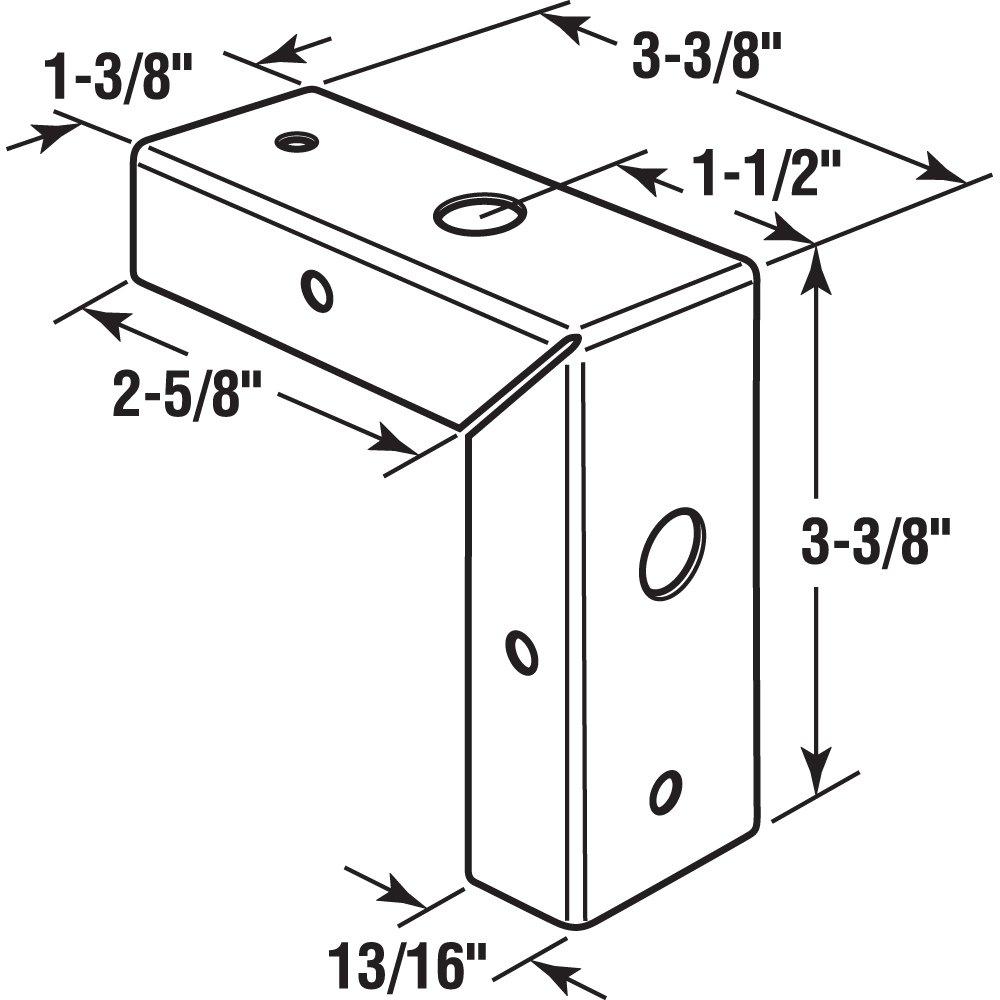Prime Line Products N 7195 Bi Fold Door Corner Repair Bracket 1 38