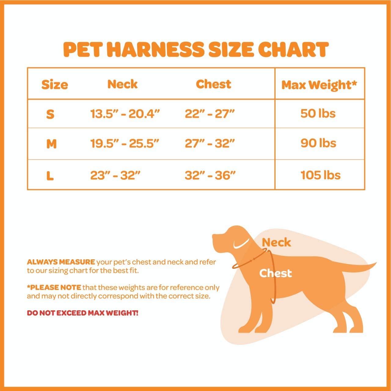 Inc Voyager Acolchado y Transpirable Arn/és para Perros de Control Caminar para Grandes//Active Dogs Peque/ña Negro de Control Best Pet Supplies