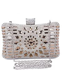 BAIGIO Women's Diamante Bag Evening Clutch Wedding Clutch Purse Bridal Prom Handbag Party Bag