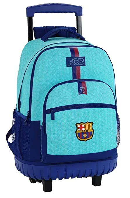Safta Mochila Escolar Grande Con Ruedas FC Barcelona 2ª Equipacion 17/18 Oficial 320x140x460mm