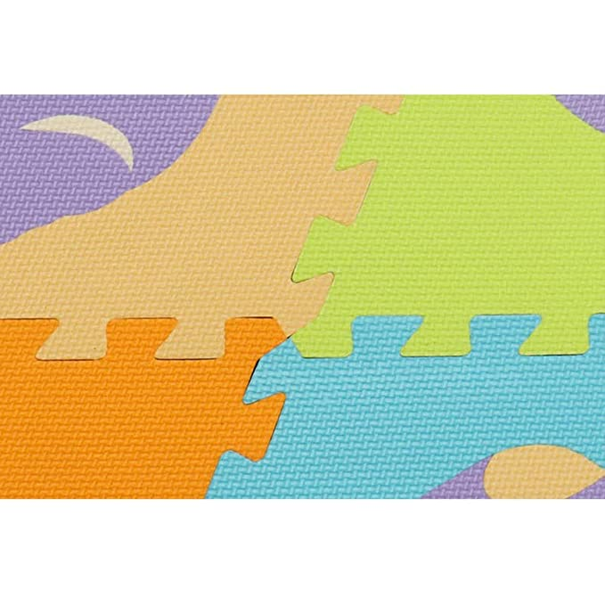 Amazon.com: Pink day-us Crawling Mat Cartoon Puzzle Floor Mat Fence ...