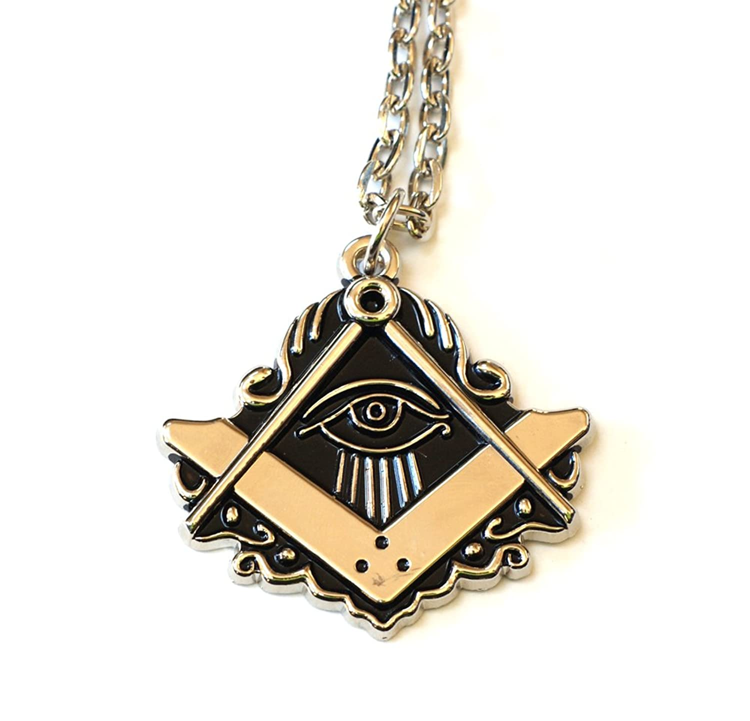 Amazon masonic all seeing eye pendant for the freemason the amazon masonic all seeing eye pendant for the freemason the masonic exchange illuminati necklace jewelry mozeypictures Images