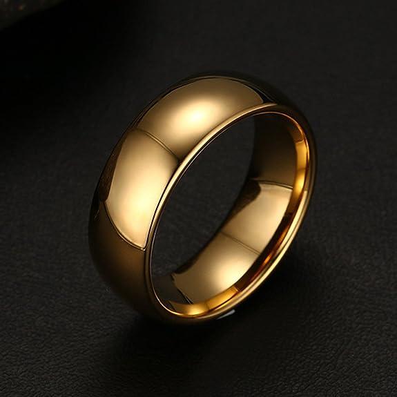 houdell carburo de tungsteno boda compromiso banda anillos para hombres mujeres, curvada, borde biselado: Amazon.es: Joyería