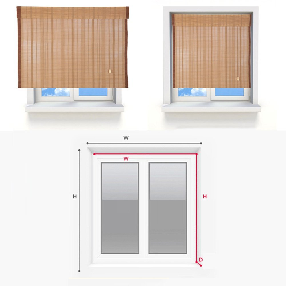 ZEMIN Blinds Shades Bamboo Roller Blind Inside/Outside Install Customizable Office Hotel Cut Off Hand-lifting, 2 Colors, 22 Sizes (Color : #1, Size : 50x120CM) by ZEMIN-zhulian (Image #6)