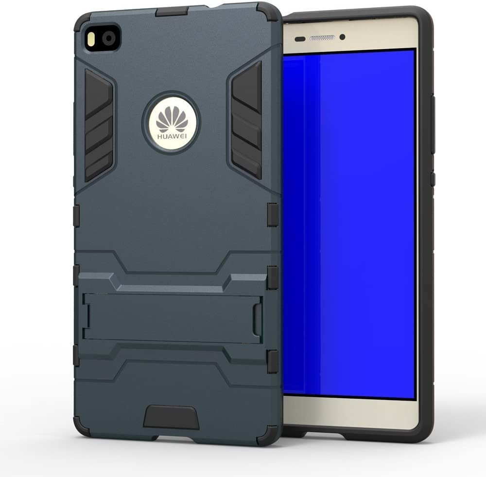 PC Hard coques Case Cover avec kickstand support pour Huawei Mate 8 Light Blue MHHQ 2 en 1 Nouveau Armour style robuste hybrides double couche Armure Defender TPU Coque Huawei Mate 8