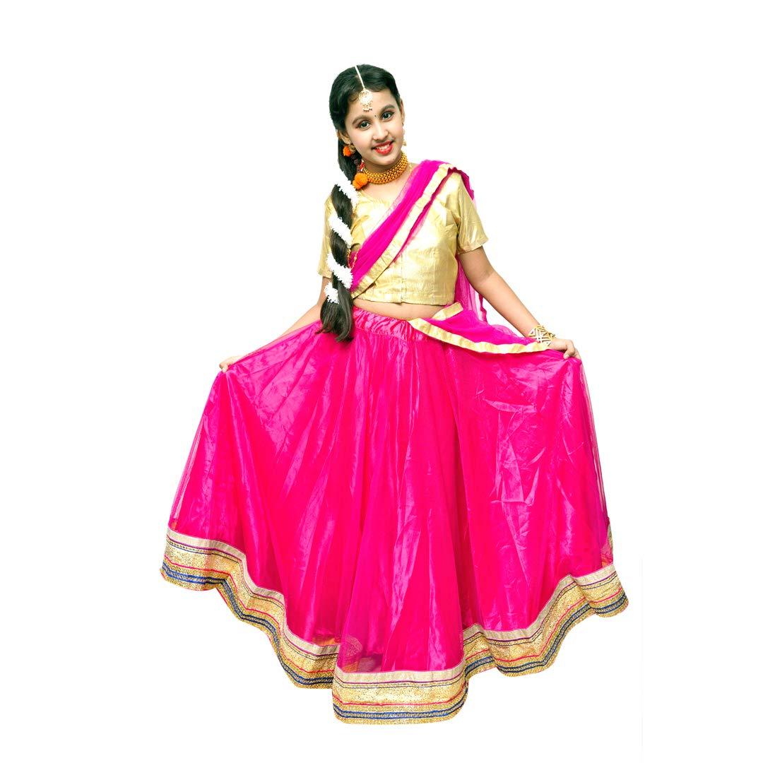 Itsmycostume Uttarpradesh Girl Indian State Kids Fancy Dress Costume For Girls Amazon In Clothing Accessories