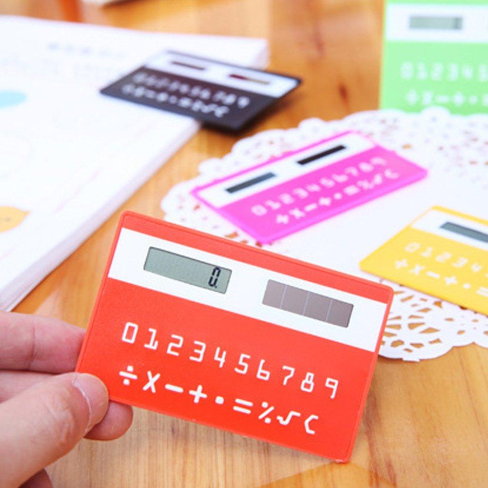 Buyanputra Bank Card Pocket Calculator Solar Powered Ultra Thin Mini Calculator