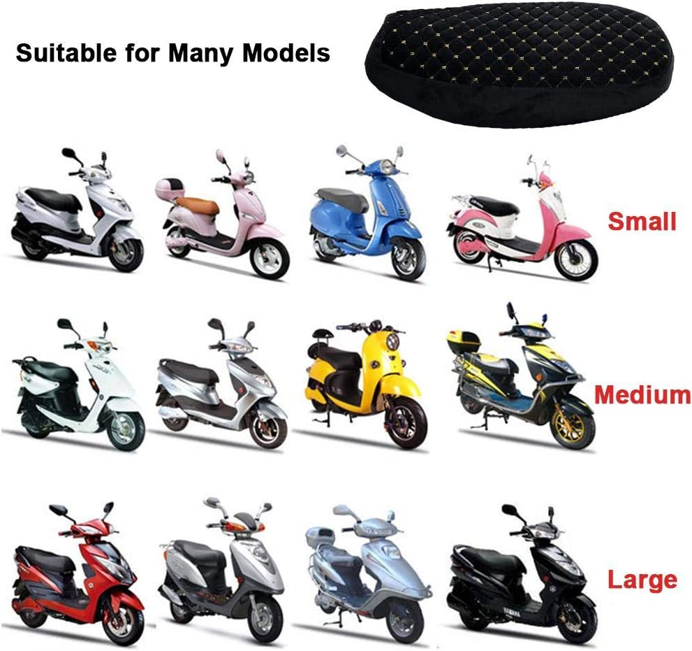 S,L,XL Bloomma Motorcycle Moped Seat Cover Cap Plush Warm-keeping Soft Seat Protector Black