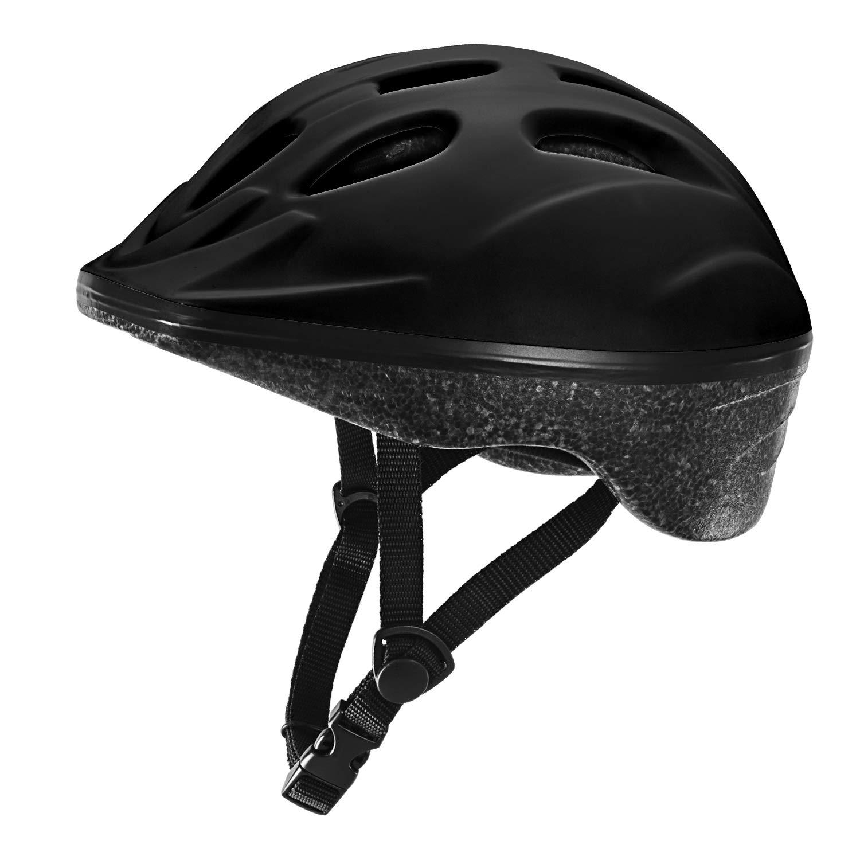 TurboSke Toddler Helmet, Youth Skateboard Helmet (Black)
