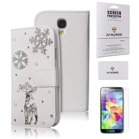 Amazon.com: Samsung Galaxy S4 Funda tipo portafolios de ...