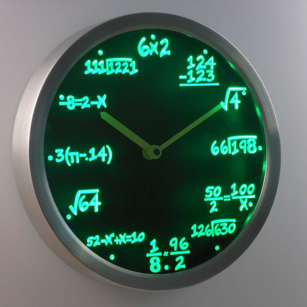 Worksheet Math Clock amazon com lightinthebox nc0461 math class algebra formula mathematics teacher gift neon led wall clock home decor design clocks