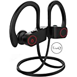 Wireless Headphones Bluetooth Earbuds With Mic for Running Gym Deep Bass Sports Wireless Earphones Sweatproof Headsets for iPhone Android TV Black