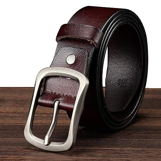 Guolipin Cinturones de Hombre Cinturón de Jeans para Hombres ...