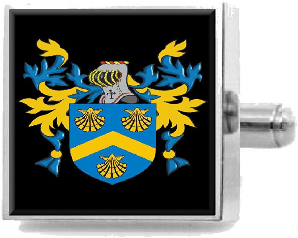 Select Gifts Maccall Scotland Family Crest Surname Coat Of Arms Cufflinks Personalised Case