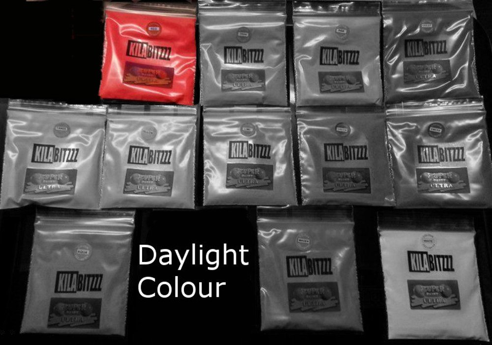 Ultra Glow in the Dark fluorescente UV pigmento 20g–used for Glow mensola o gioielli in resina, Magenta, 20 g KILABITZZZ