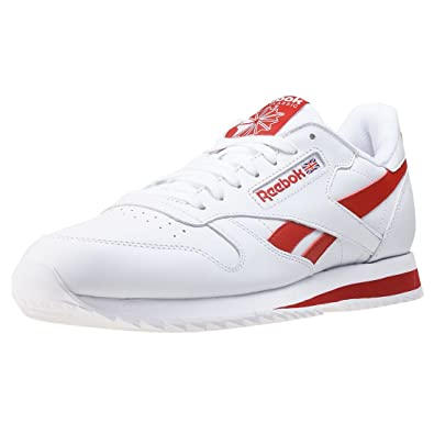db60c01bccfd4 Reebok Cl Leather Ripple L Retro Mens Trainers White Red - 13 UK ...