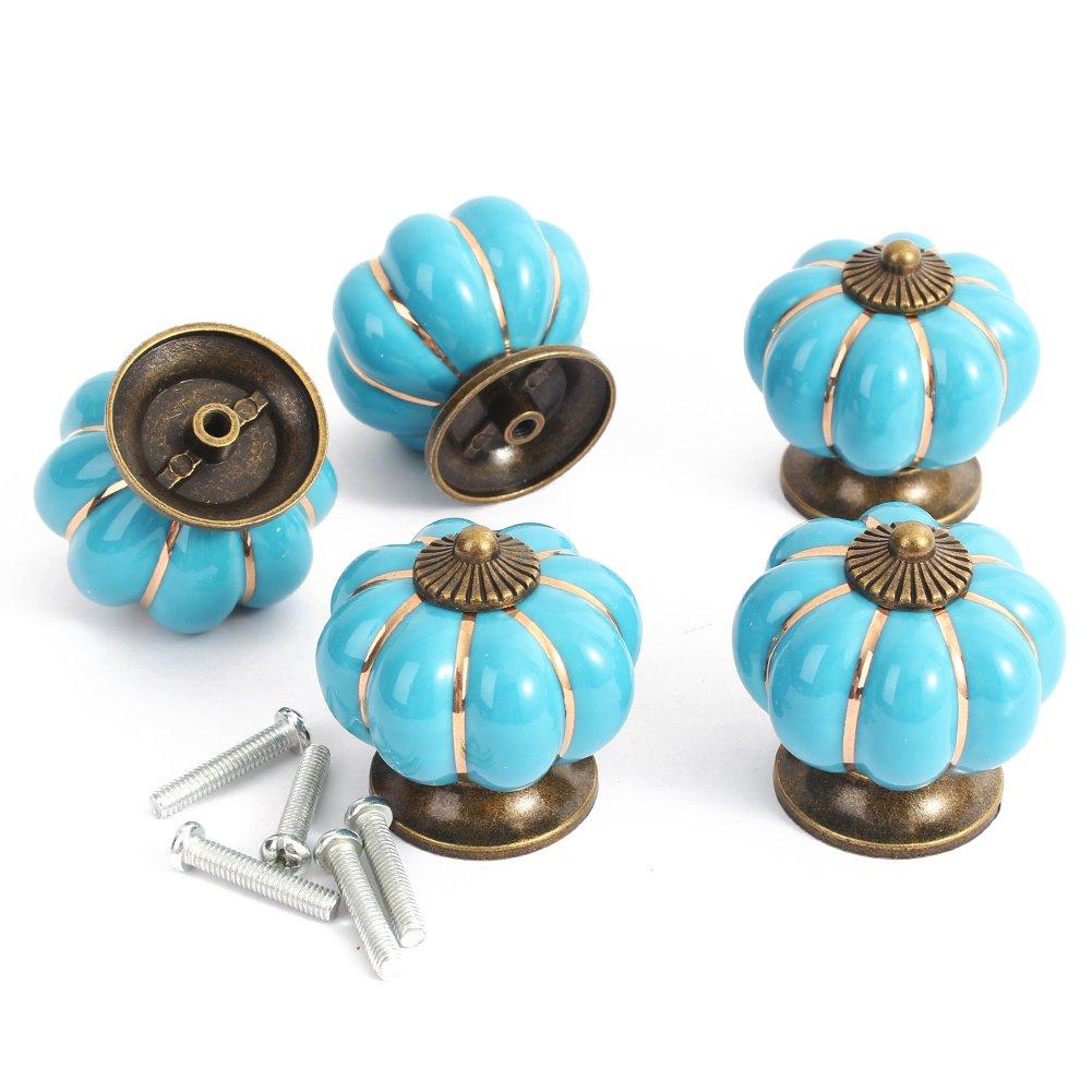 Bei wang Sch/öne Pumpkins Form Pull Handle F/ür Schrankt/ür Schrank Schubladen blau