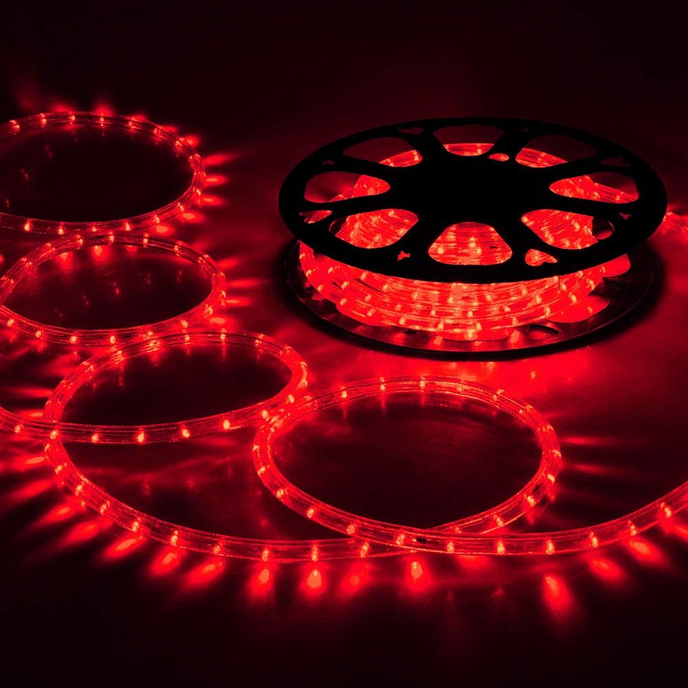 Yescom 2x150ft Red 2 Wire LED Rope Light Indoor Outdoor Home Holiday Valentines Party Restaurant Cafe Decor by g (Image #2)